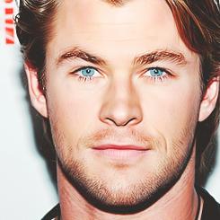 Chris's lovely Aussie blue eyes<3