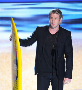 Chris with his TCA surfboard<3