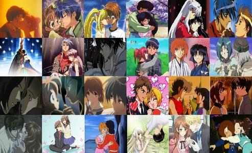 · Usagi (Serena) & Mamoru (Darien) from <i>Sailor Moon</i>, · Kusakabe Maron & Nagoya Chiaki from <i>Kamikaze Kaitou Jeanne</i>, · Yusaku Godai & Kyoko Otonashi from <i>Maison Ikkoku</i>, · Inuyasha & Kagome from <i>Inuyasha</i>, · Hitomi & Van from <i>The Vision of Escaflowne</i>,  · Parn & Deedlit and Spark & Neese from <i>Record of Lodoss War</i>, · Yuki Cross & Kaname Kuran from <i>Vampire Knight</i>, · Masaya Aoyama (Mark ?) & Ichigo Momomiya (Zoey Hanson) from <i>Tokyo Mew-Mew</i>, · Kenshin & Kaoru from <i>Rurouni Kenshin</i>, · Tsukasa & Subaru from <i>Dot Hack Sign</i>, · Robin Sena & Amon from <i>Witch Hunter Robin</i>, · Ahiru & Fakir from <i>Princess Tutu</i>...I had seen AMVS and fan-art and I thought they're sweet together; · Tomoya Okazaki & Nagisa Furukawa from <i>Clannad</i>. I'd watched <i>Clannad</i> and I thought they're sweet; · Miyu Yamazaki & Yamato Kotobuki from <i>Super GALS!</i>, · Seiya & Miho from <i>Saint Seiya</i>, · Sakura Kinomoto & Syaoran Li from <i>Card Captor Sakura</i>, · Kamui Shirou & Kotori Monou from <i>X/1999</i>, · Rikuo Nura & Kana Ienaga from <i>Nurarihyon no Mago</i>, · Keith & Princess Allura from <i>Voltron</i>, · Hideki Motosuwa & Chii from <i>Chobits</i>, · Lydia Carlton & Edgar J. C. Ashenbert from <i>Hakushaku to Yōsei</i> (<i>Earl and Fairy</i>),and... · Kitarō & Yumeko Tendo from <i>Gegege no Kitarō</i> (1985)