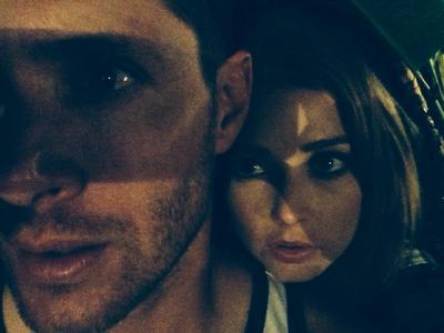 Jensen with a woman