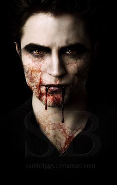 Robert's Twilight character,Edward with blood<3