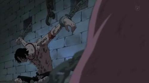 Portgas.D.Ace (One Piece) Ace imprisoned in Impel Down
