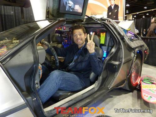 Misha in the DeLorean!!!!