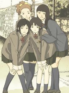 Lain, Arisu, Juri, and Reika. <3