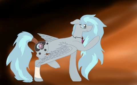 Name: Moonblossom Ash Type: Pegasus Mane/Tail: Blue with light streaks Cutie Mark: rosa blume overlapping a moon on black background Personality: A sweet pony with a big heart. She loves gaming, flying, reading, drawing and being a daredevil. Can be sarcastic, impulsive, and secretive. Very optimistic.