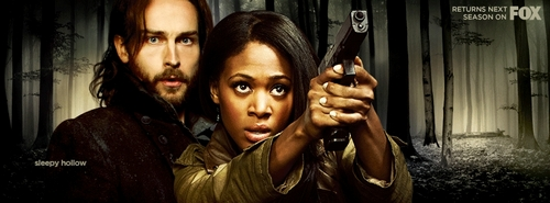 It happens to be one of my inayopendelewa shows. The reason I'm intrigue is Ichabod character and Abbie.