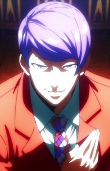 Tokyo Ghoul is my best answer. Shu Tsukiyama looks a lot like one of the guys in your picture.