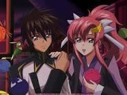 Lacus clyne and kira yamato from gundam seed destiny