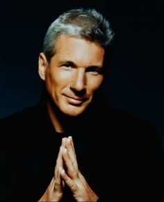 Gere with grey hair<3