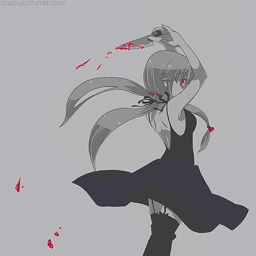 Yuno Gasai from Mirai Nikki.