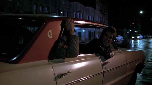 "Joey in the 64' Chevrolet Impala car saying "" Come on, fuck-head!"" to John :D"