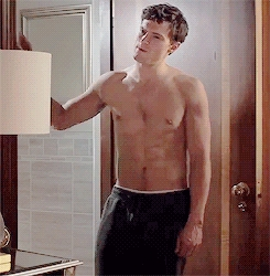 delicious shirtless Dornan<3<3