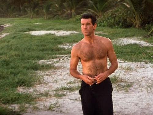 Pierce Brosnan's hairy chest