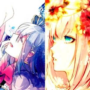 These two girls are my precious girls: (Left) Sayaka Miki, (Right) Sakura Haruno <333333