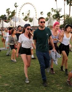 my babes walking at Coachella<3