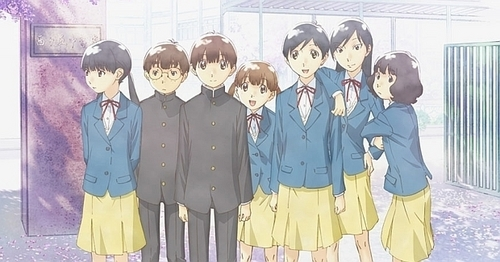 "Horou Musuko. My friend just introduced me to this, and it's really good. It's about a group of ""tweenagers"" in middle school trying to figure out who they are and get through their lives. It's really, REALLY heartfelt and I have been warned that I will cry. I'm only on episode 2 at the moment, but te should try it!"