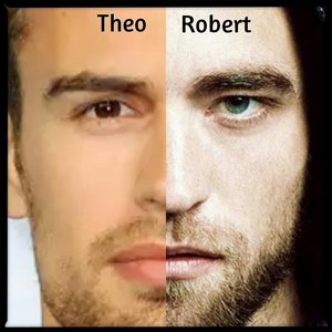 Robert and Theo with stubble<3