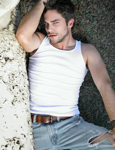 Brant in a tank top<3