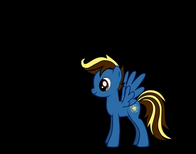 Name: Astro Storm Type: Pegasus Cutie Mark: Meteor Showers Mane: Brown with light yellow streaks. Occupation: Weather Patrol in Ponyville and Shooting Stars during the night. Friends: regenbogen Dash, Fluttershy, Twilight Sparkle, Luna, and Pinky Pie.
