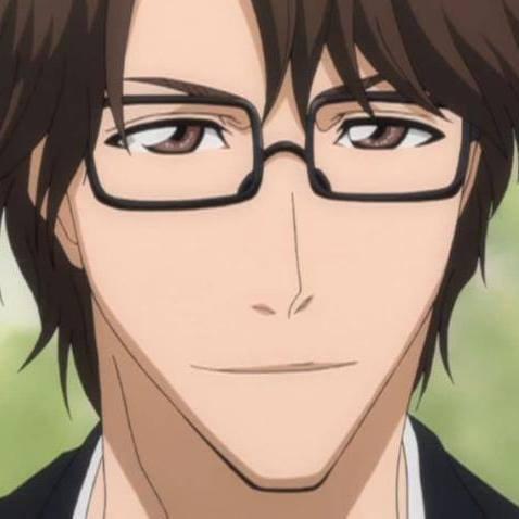 aizen sosuke wears glasses XD