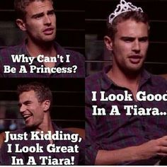 Theo with words...LOL<3