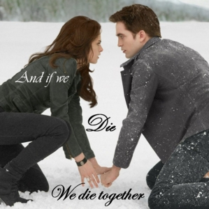 Robsten,as Edward and Bella,with words<3