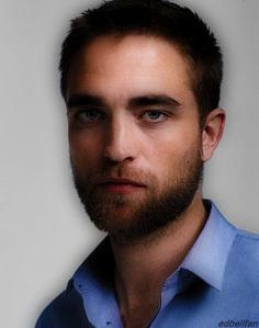 my bearded babe in blue<3