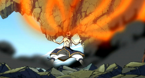Ok, so MY fav quote is from the first episode after that guy calling himself The Salamander sets the ship on fire and Lucy thinks that Natsu is killed...