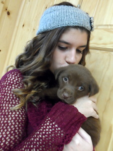 Me and this cute doggy <3