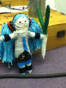 The Hatsune Miku string doll that I made.