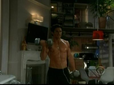 Brandon sweaty and shirtless<3