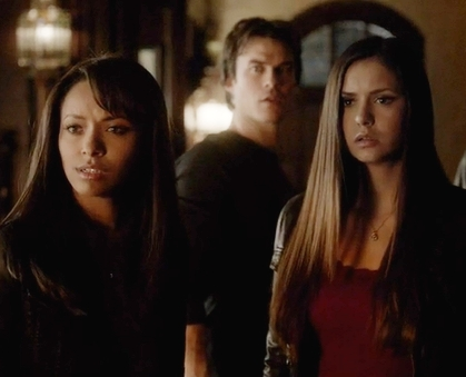 Elena, Damon and Bonnie.