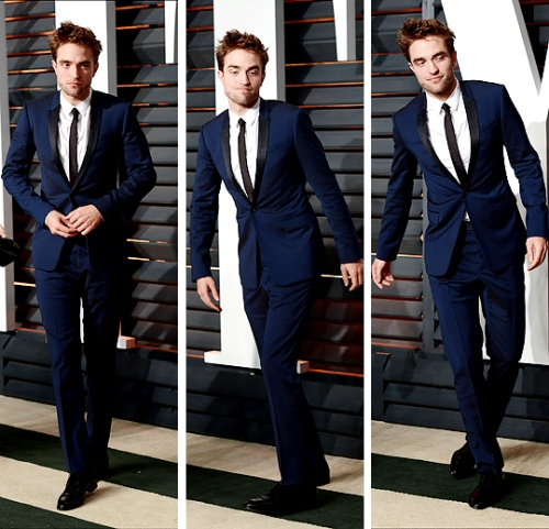 my sexy Rob in a gorgeous blue suit<3