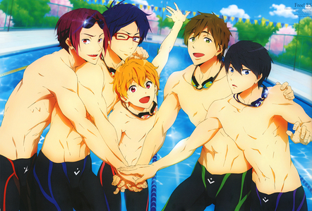 Free! and i dont care is the seniors have already graduated but two members of the original club are still in highschool and i want to see the Iwatobi swim club to progress further. Plus...shirtless....dudes.