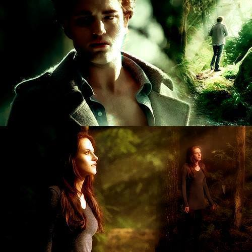 Robert and Kristen with shadows on their faces<3
