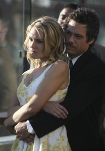 MRJ with Laura Allen in a scene from Terriers