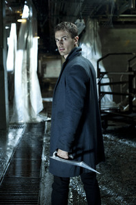 Theo with a metal weapon<3