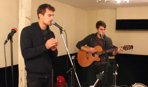 my other British hotty,Theo singing<3