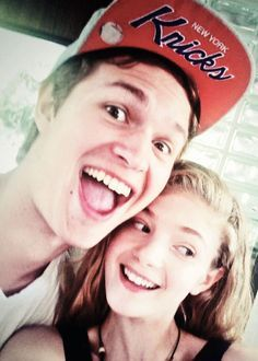 adorable Ansel wearing a Knicks cap<3