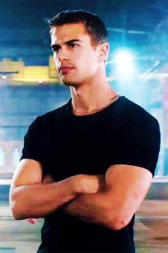 Theo has the perfect physique...toned and just the right amount of muscles<3