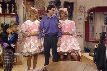 John Stamos and Dave Coulier in funny costumes XD