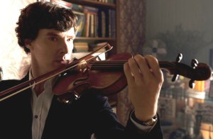 Benny with a violin<3