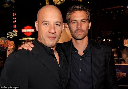 Vin Diesel with his friend,Paul Walker,who he considered a brother,and who he named his newborn daughter after<3