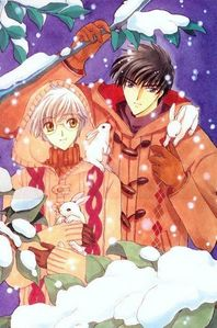 Touya and Yukito from *Card Captor Sakura* and *Tsubasa Reservoir Chronicles* They're always there for one another...and Touya saves Yuki's life Von giving up something quite valuable. (Not gonna say what, though, because spoilers.)