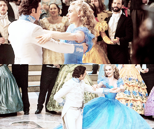 Richard dancing with his 灰姑娘 leading lady,Lily James<3
