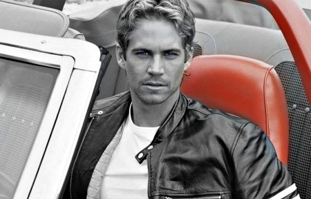 Paul looking ultra hot in a black leather jacket<3