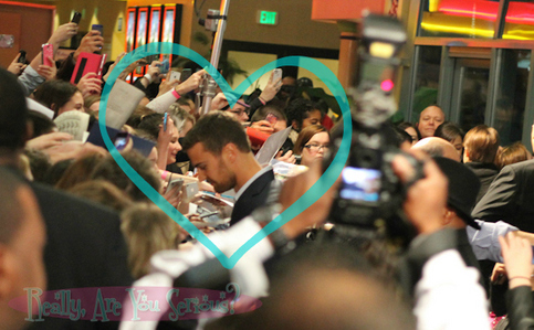 my babe Theo in a crowd<3