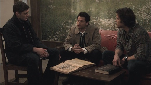 """Season 5: Episode 17 """"99 Problems""""  Sam: What's wrong with you? Are you...drunk? Castiel: No!... Yes. Sam: What the hell happened to you? Castiel: I found a liquor store. Sam: And? Castiel: And I drank it."""