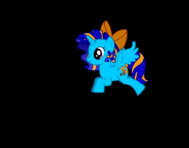 Type of pony: Alicorn Name: Prairie Paws (Prairie) Cutiemark : gray bunny Mane: blue and orange Tail: same as mane Facts: fast, smart, good with Tiere Backround story: She grew up on a farm when she moved to Ponyvill when she was a filly. While she was still a fill Twilight helped her with her magic and Prairie became a alicorn yet had no cutiemark. She met Fluttershy and got her cutiemark taking care of the animals. She moved to Canterlot but when she realized she wasn't as fancy as the others so she moved back to Ponyvill and bought a farm near A.J's.