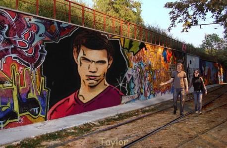 a দেওয়াল mural অনুরাগী art of Taylor Lautner<3
